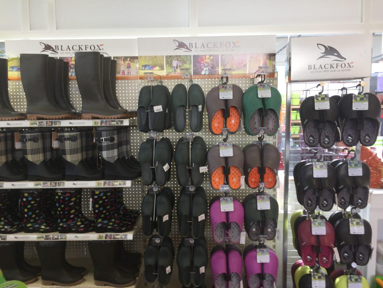 Bottes et chaussures de jardinage, jardinerie rodez